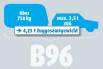 Klasse B96 bis 4,25 to